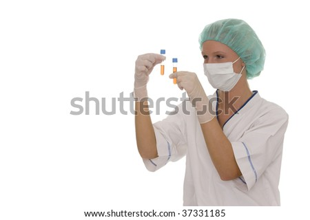 A portrait of a doctor - stock photo