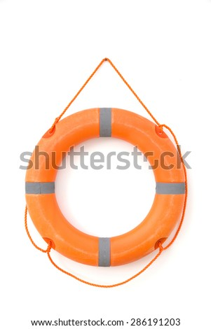 A portrait of a safety tube in white background isolated - stock photo