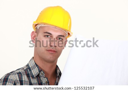 A portrait of an architect. - stock photo