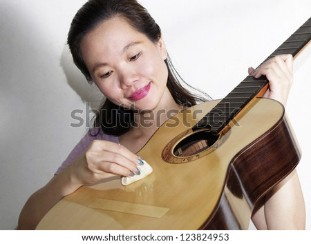 a portrait of attractive asian woman - stock photo