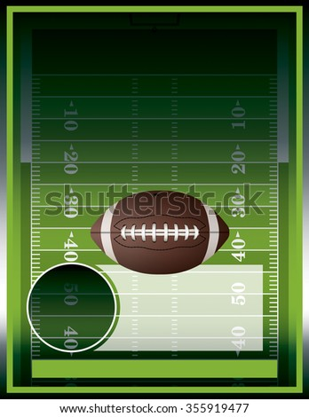 A poster design perfect for tailgate parties, football invites, etc. - stock photo