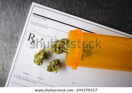 a prescription for medical marijuana  - stock photo