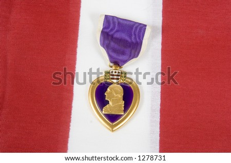 A Purple Heart 08 (memorial day series) - stock photo