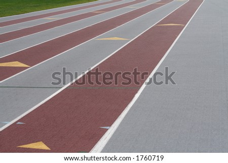 a race track - stock photo