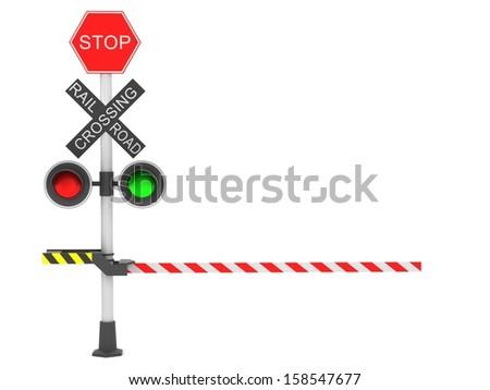 A rail road signal - stock photo