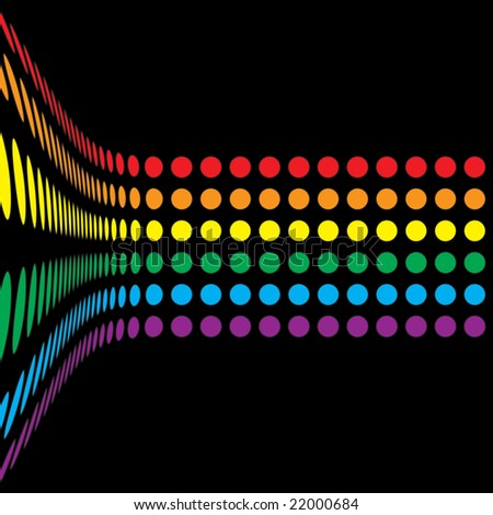 A rainbow colored abstract design template. - stock photo