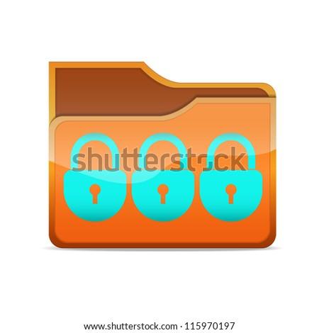 a raster version of creative folder icon - stock photo