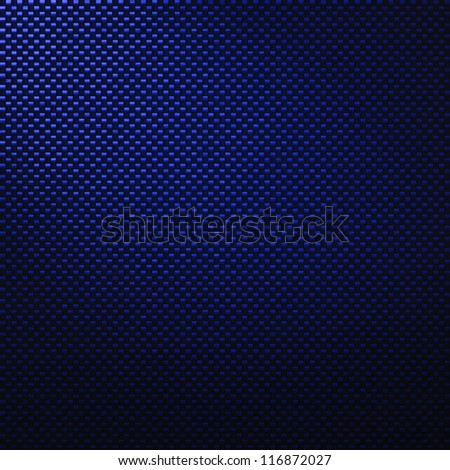 A realistic blue carbon fiber weave background or texture - stock photo