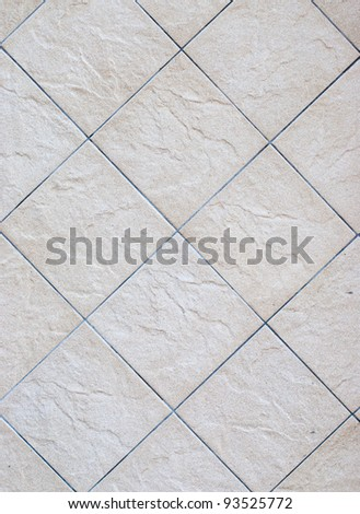 A rectangular pattern on the concrete floor - stock photo