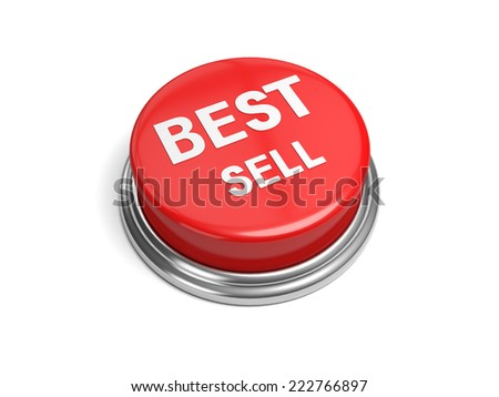 A red button with the word best sell on it - stock photo