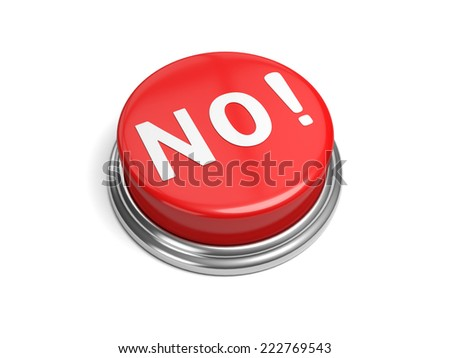 A red button with the word no on it - stock photo