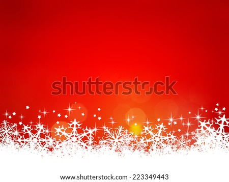 A red christmas background for your content - stock photo