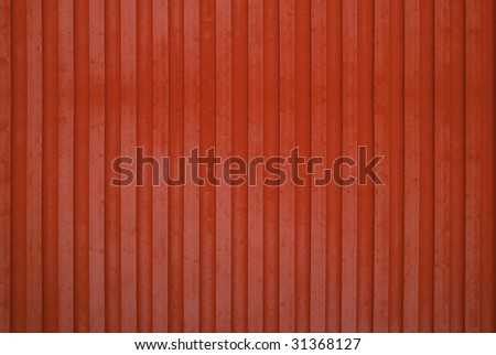 A red wooden wall background - stock photo