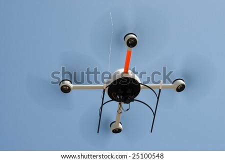 A remote controlled flying craft - stock photo