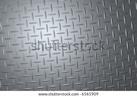 a rendered metal checker plate with embossed profile - stock photo