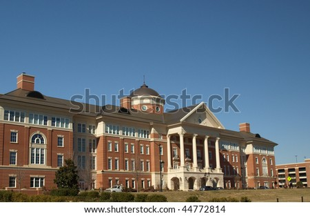 A research building a university - stock photo