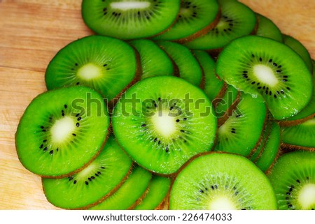 a ripe tropical fruit of kiwi as delicacy is a meal - stock photo