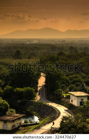 A road runs through it in the Valley - stock photo