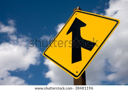 A road sign offering direction. - stock photo