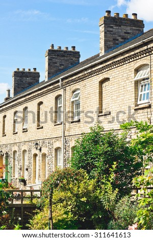 A row of town houses in Sudbury, Suffolk - stock photo