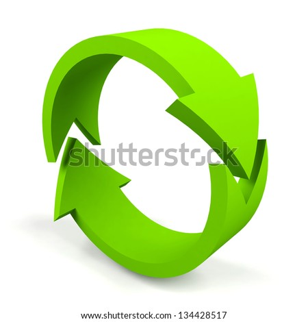 A�rrows on a white background. - stock photo