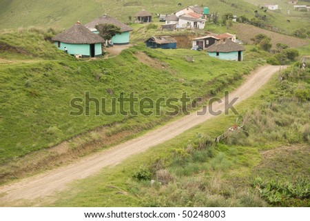 A rural settlement in South Africa - stock photo