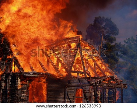 a ruthless fire - stock photo