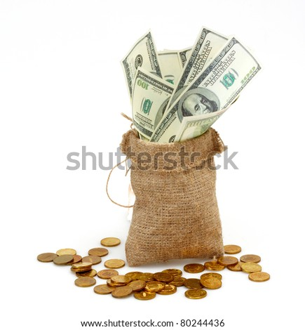 A sack full of cash - stock photo