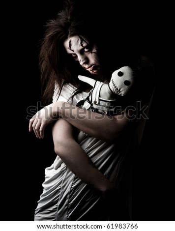 Halloween Scary Woman Stock Photos, Images, & Pictures ...