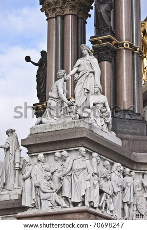 A Scenic View of The Prince Albert memorial in Hyde park - stock photo