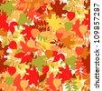 A seamless leaf pattern  raster version background. - stock photo