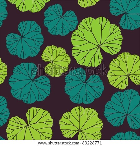 A seamless pattern with leaf, geranium - stock photo