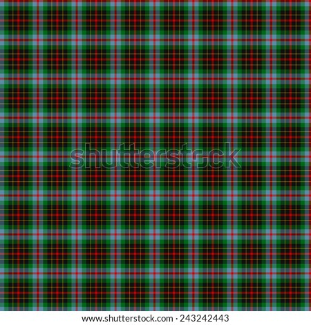 A seamless patterned tile of the clan Brodie tartan. - stock photo