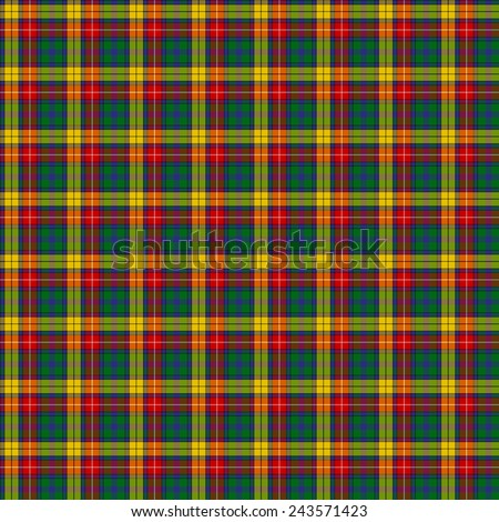 A seamless patterned tile of the clan Buchanan tartan. - stock photo