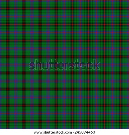 A seamless patterned tile of the clan Davidson tartan. - stock photo