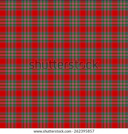 A seamless patterned tile of the clan MacBean tartan. - stock photo