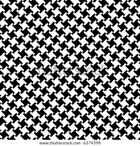 A seamless, repeating houndstooth pattern in black and white. Vector format also available. - stock photo
