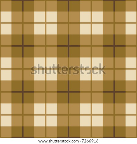 """A seamless 12"""" square plaid pattern in gold colors. - stock photo"""