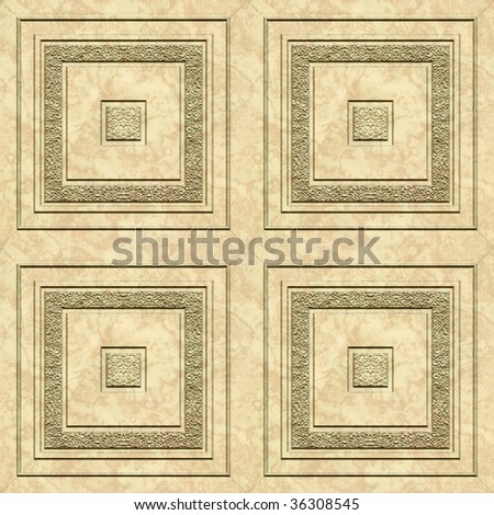 A seamless tiling pattern made from marble floor tiles - stock photo