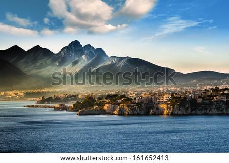A seascape on the coast of Sicily (Italy) - stock photo