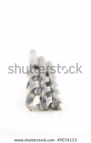 A selection of HSS drill bits - stock photo