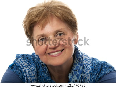 a senior woman - over sixty years old - stock photo