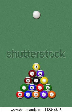 A set of balls for billiard / pool theme - stock photo
