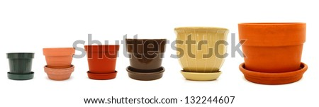 A set of flower planters - stock photo