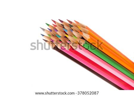 A set of pencils - stock photo