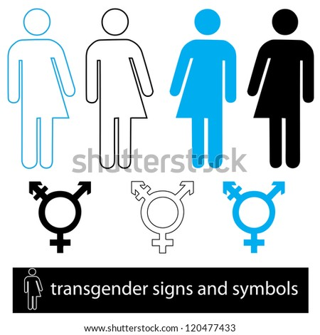 A set of trangender icons, jpeg version. - stock photo