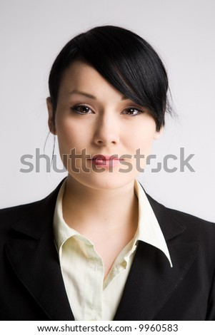 A shot of a beautiful young businesswoman - stock photo