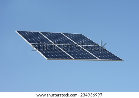 A shot of solar panels - stock photo