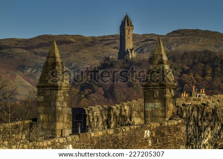 A shot of the historical Stirling Bridge - stock photo