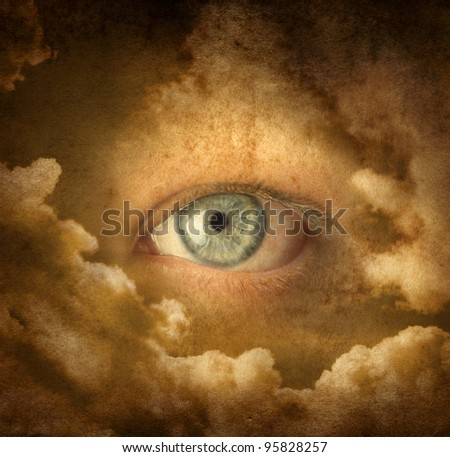 a sight from heavens (grunge image) - stock photo